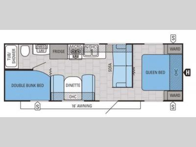 Floorplan - 2015 Jayco Jay Flight 26BH