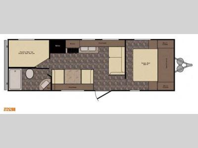 Floorplan - 2015 CrossRoads RV Z 1 ZT252BH