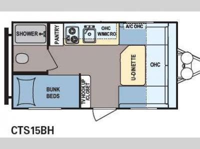 Floorplan - 2014 Dutchmen RV Coleman Expedition LT CTS15BH