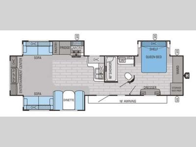 Floorplan - 2015 Jayco Eagle 338RETS