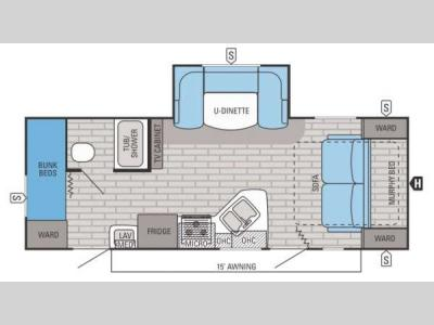 Floorplan - 2015 Jayco White Hawk 23MBH
