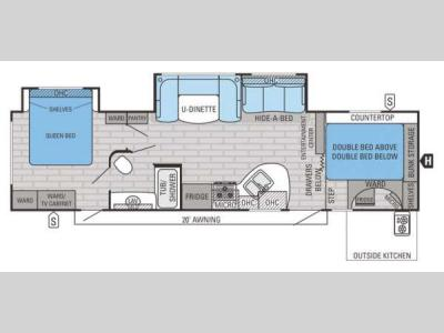 Floorplan - 2015 Jayco White Hawk 33BHBS