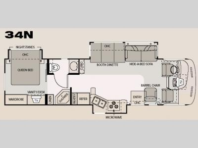 Floorplan - 2006 Four Winds RV Hurricane 34N