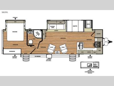 Floorplan - 2015 Forest River RV Salem Hemisphere Lite 302FK
