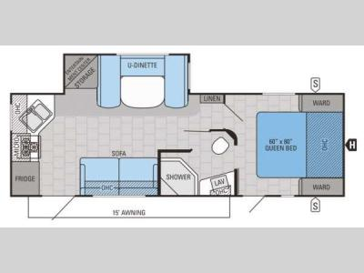 Floorplan - 2015 Jayco Jay Flight 26RKS