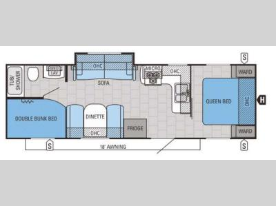 Floorplan - 2015 Jayco Jay Flight 28BHS