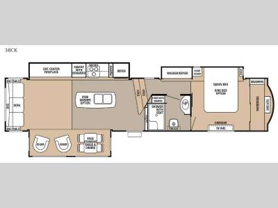 Floorplan - 2015 Forest River RV Cedar Creek 38CK