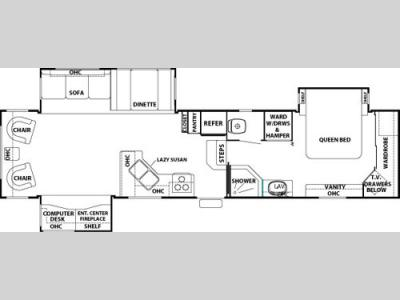 Floorplan - 2007 Forest River RV Cedar Creek 36 RLTS