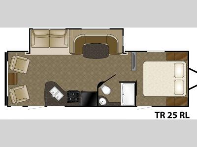 Floorplan - 2015 Heartland Trail Runner 25RL