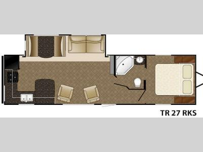 Floorplan - 2015 Heartland Trail Runner 27RKS