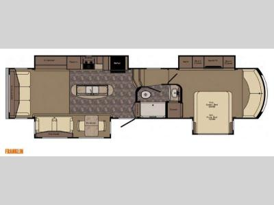 Floorplan - 2015 CrossRoads RV Rushmore Franklin RF39FR