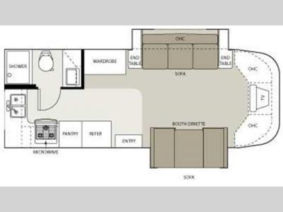 Floorplan - 2006 Four Winds RV Siesta 24BB
