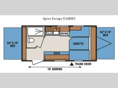 Floorplan - 2015 KZ Spree Escape E16RBT
