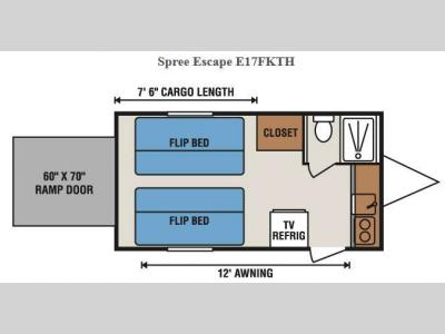Floorplan - 2015 KZ Spree Escape E17FKTH