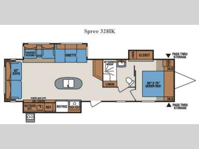 Floorplan - 2015 KZ Spree 328IK