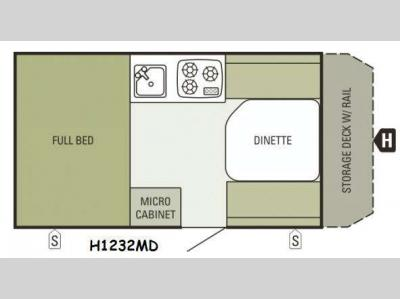 Floorplan - 2015 Starcraft Comet Hardside H1232MD