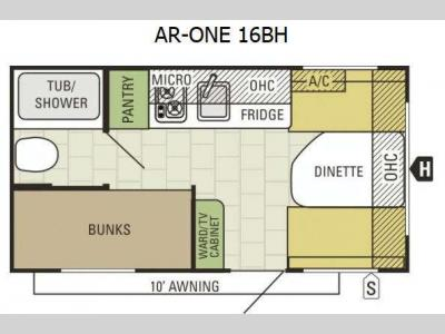 Floorplan - 2015 Starcraft AR-ONE 16BH