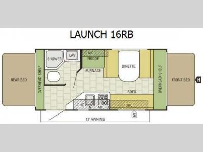 Floorplan - 2015 Starcraft Launch 16RB