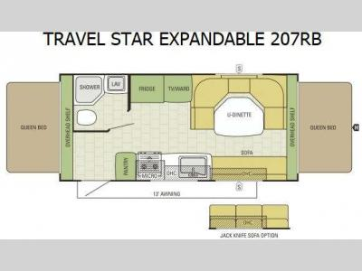 Floorplan - 2015 Starcraft Travel Star 207RB