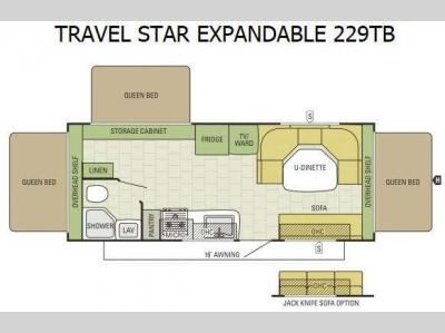 Floorplan - 2015 Starcraft Travel Star 229TB