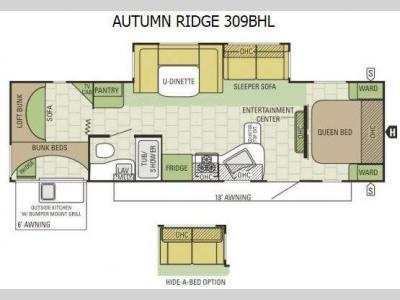 Floorplan - 2015 Starcraft Autumn Ridge 309BHL