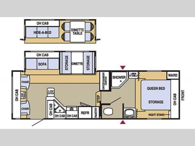Floorplan - 2006 Starcraft  Homestead LITE 270RLSS