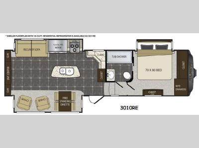 Floorplan - 2015 Keystone RV Alpine 3010RE