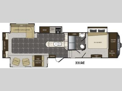 Floorplan - 2015 Keystone RV Avalanche 331RE