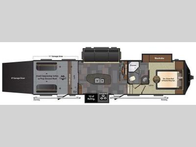 Floorplan - 2015 Keystone RV Fuzion 331 Chrome