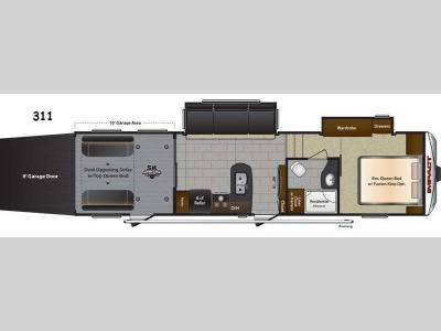 Floorplan - 2015 Keystone RV Impact 311