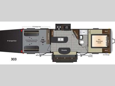 Floorplan - 2015 Keystone RV Impact 303