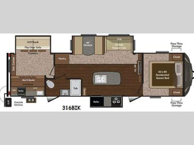 Floorplan - 2015 Keystone RV Sprinter 316BIK