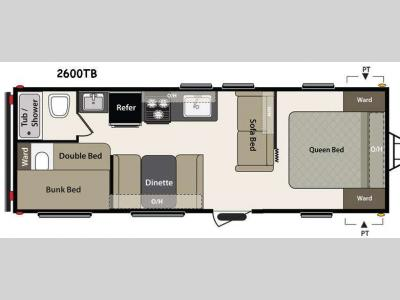 Floorplan - 2015 Keystone RV Summerland 2600TB