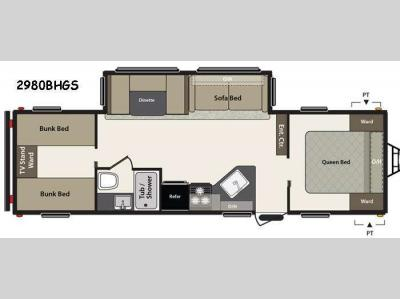 Floorplan - 2015 Keystone RV Summerland 2980BHGS