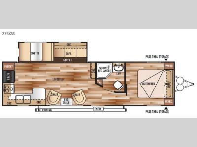 Floorplan - 2015 Forest River RV Salem 27RLSS