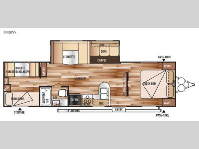 Floorplan - 2015 Forest River RV Salem 30QBSS