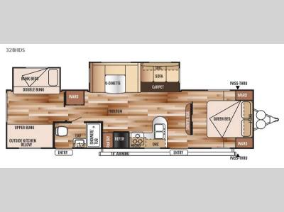 Floorplan - 2015 Forest River RV Salem 32BHDS