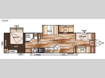 Floorplan - 2015 Forest River RV Salem 36BHBS