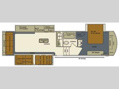 Floorplan - 2015 EverGreen RV Bay Hill 320RS