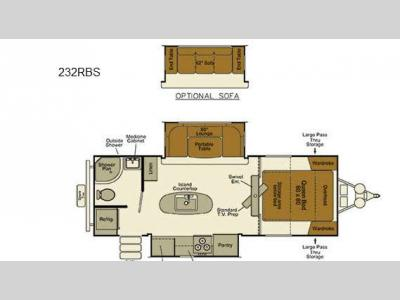 Floorplan - 2015 EverGreen RV Ever-Lite 232RBS