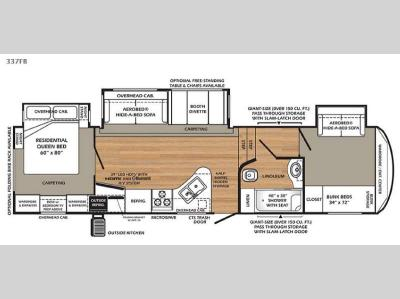 Floorplan - 2015 Forest River RV Wildcat 337FB