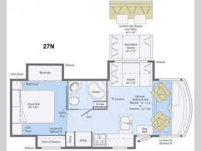 Floorplan - 2015 Winnebago Vista 27N