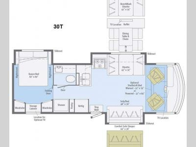Floorplan - 2015 Winnebago Vista 30T