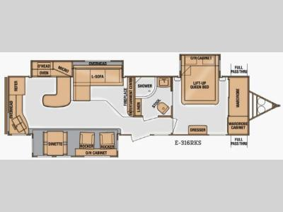 Floorplan - 2014 Cruiser Enterra E-316RKS