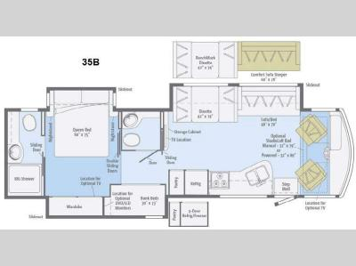 Floorplan - 2015 Itasca Sunstar 35B