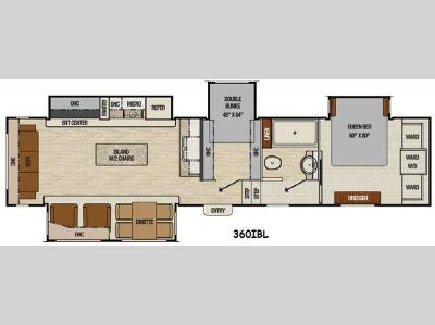 Floorplan - 2015 Coachmen RV Chaparral 360IBL