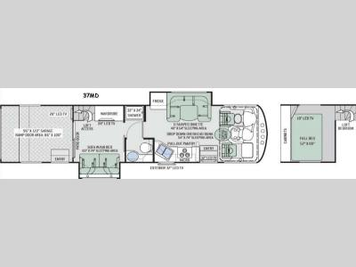 Floorplan - 2015 Thor Motor Coach Outlaw 37MD