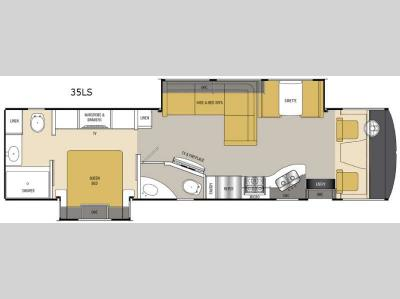 Floorplan - 2015 Coachmen RV Mirada 35LS