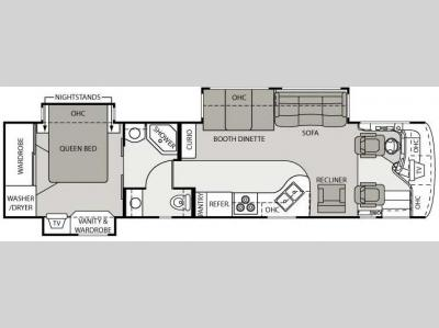 Floorplan - 2007 Mandalay Luxury Division Valencia Class A 37A