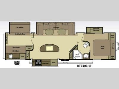 Floorplan - 2015 Open Range RV Roamer RT310BHS